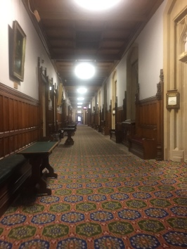 Hallway leading to the House of Lords meeting room